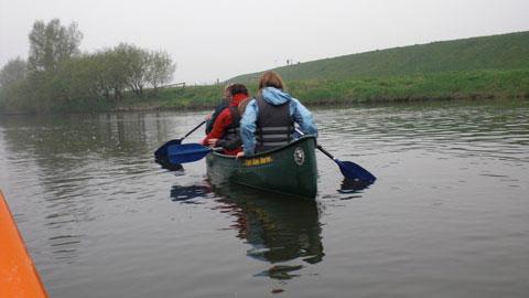 Foto 6 – Emmaus-Fahrt – mit dem Kanu auf der Lippe