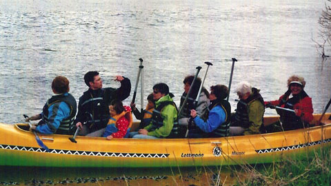 Foto 1 – Mit dem Kanu auf der Lippe – mit den eigenen Rädern zurück