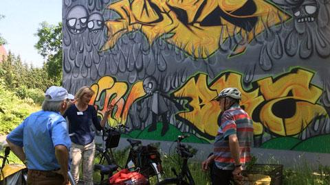 """Foto 3 – Geführte Radtour durch ganz Dorsten zum Thema: """"Kunst im öffentlichen Raum"""""""
