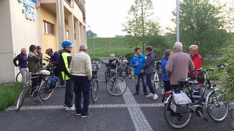 """Foto 1 – Traditionelle Radtour """"Beginn vor Tau und Tag"""" am Himmelfahrtstag"""