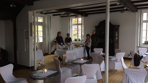 Foto 1 – Rathaus Café anlässlich des Dorstener Lichterfestes