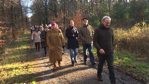 Foto 1 – Winter-Wanderung zur Begrüßung des neuen Jahres
