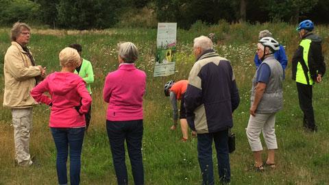 """Foto 4 – Radtour zum Thema """"Biologische Vielfalt (Biodiversität) in Dorsten"""""""