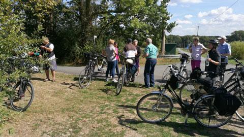 Foto 5 – Radtour zum Café Lühlerheide auf dem Gelände der ev. Stiftung Lühlerheim