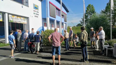 Foto 1 – Radtour nach Raesfeld – mit den Bürgermeistern Tobias Stockhoff, Andreas Grotendorst und der Regierungspräsidentin Dorothea Feller