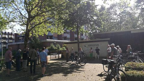 Foto 2 – Radtour nach Raesfeld – mit den Bürgermeistern Tobias Stockhoff, Andreas Grotendorst und der Regierungspräsidentin Dorothea Feller
