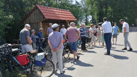 Foto 10 – Radtour nach Raesfeld – mit den Bürgermeistern Tobias Stockhoff, Andreas Grotendorst und der Regierungspräsidentin Dorothea Feller
