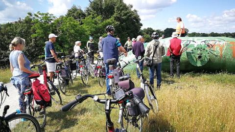 Foto 1 – Fachlich geführten Radtour zum Thema Fließgewässer in Dorsten