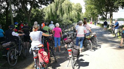 Foto 2 – Fachlich geführten Radtour zum Thema Fließgewässer in Dorsten