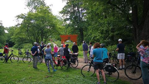 Foto 4 – Fachlich geführten Radtour zum Thema Fließgewässer in Dorsten