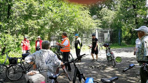 Foto 6 – Fachlich geführten Radtour zum Thema Fließgewässer in Dorsten