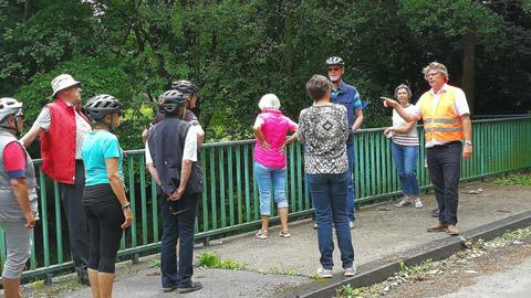 Foto 7 – Fachlich geführten Radtour zum Thema Fließgewässer in Dorsten