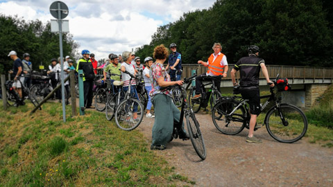 Foto 8 – Fachlich geführten Radtour zum Thema Fließgewässer in Dorsten
