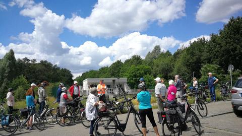 Foto 9 – Fachlich geführten Radtour zum Thema Fließgewässer in Dorsten