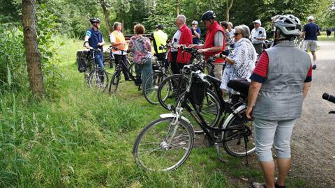 Foto 12 – Fachlich geführten Radtour zum Thema Fließgewässer in Dorsten