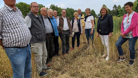 """Foto 8 – Gebuchte Radtour zum Thema """"vom Einkorn zum Mehrkorn – Kulturgeschichte des Getreides"""" mit Petra Eißing"""""""