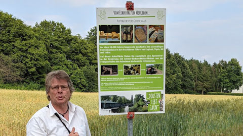 """Foto 10 – Gebuchte Radtour zum Thema """"vom Einkorn zum Mehrkorn – Kulturgeschichte des Getreides"""" mit Petra Eißing"""""""