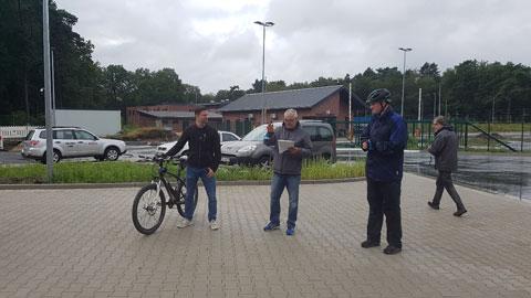 Foto 1 – Radtour mit Bürgermeister Tobias Stockhoff - Besuch der MUNA in Wulfen