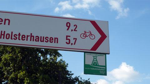 Beschilderung der Route Industriekultur per Rad