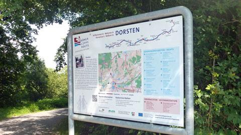 "Hinweistafel ""Römer-Lippe-Route"""