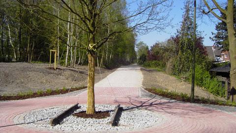 Heute Radweg: ehemaliges Bahngleis der Strecke Haltern-Wesel