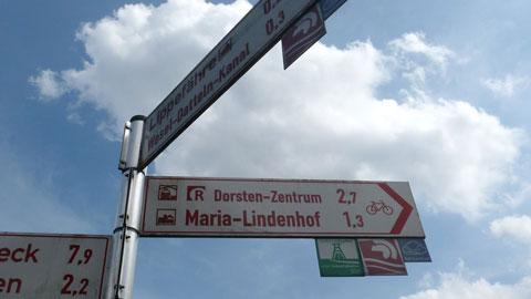 Zielwegweiser im Radverkehrsnetz NRW