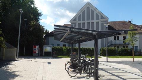 Fahrradständer am Bahnhof Hervest